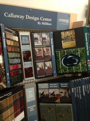 Area rug samples display